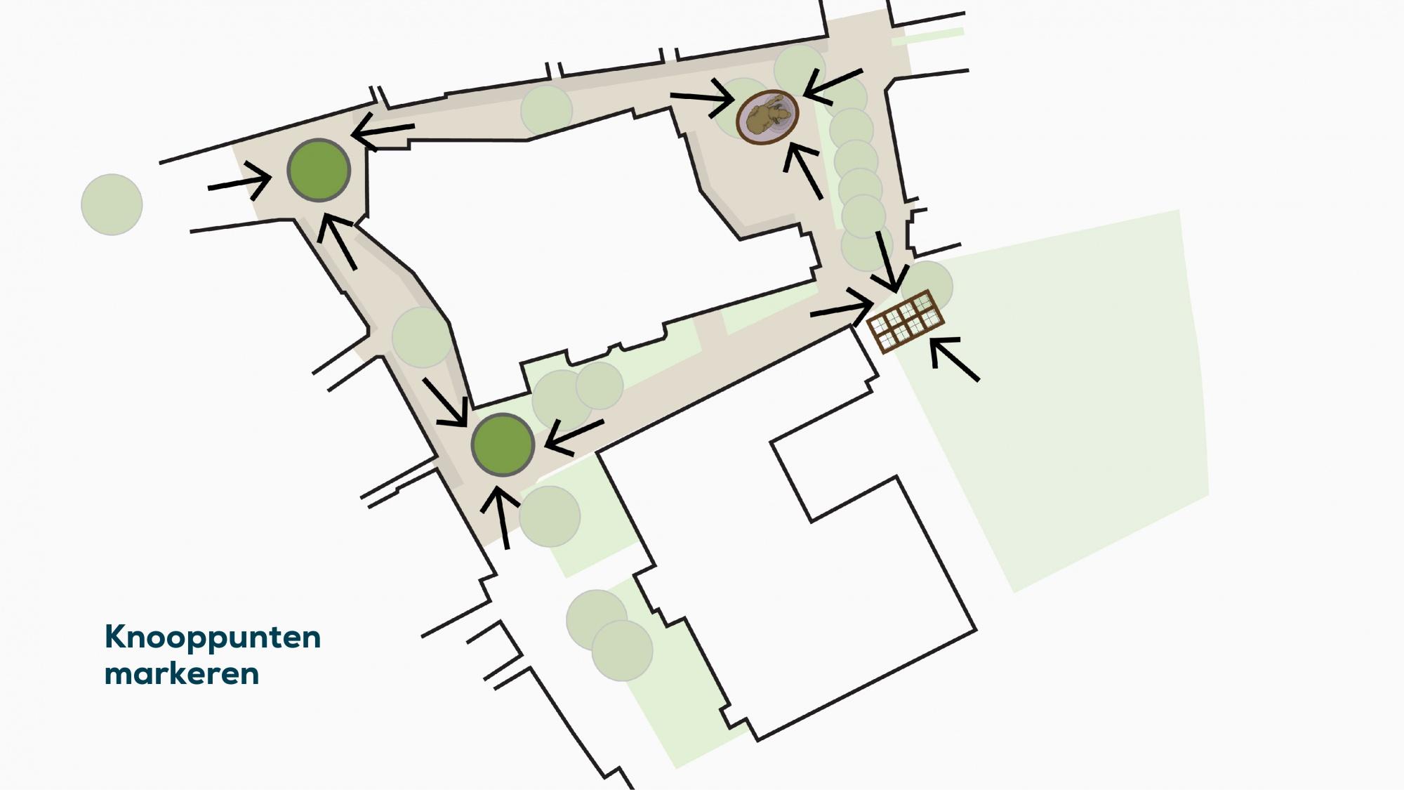 plattegrond 1 knooppunten markeren
