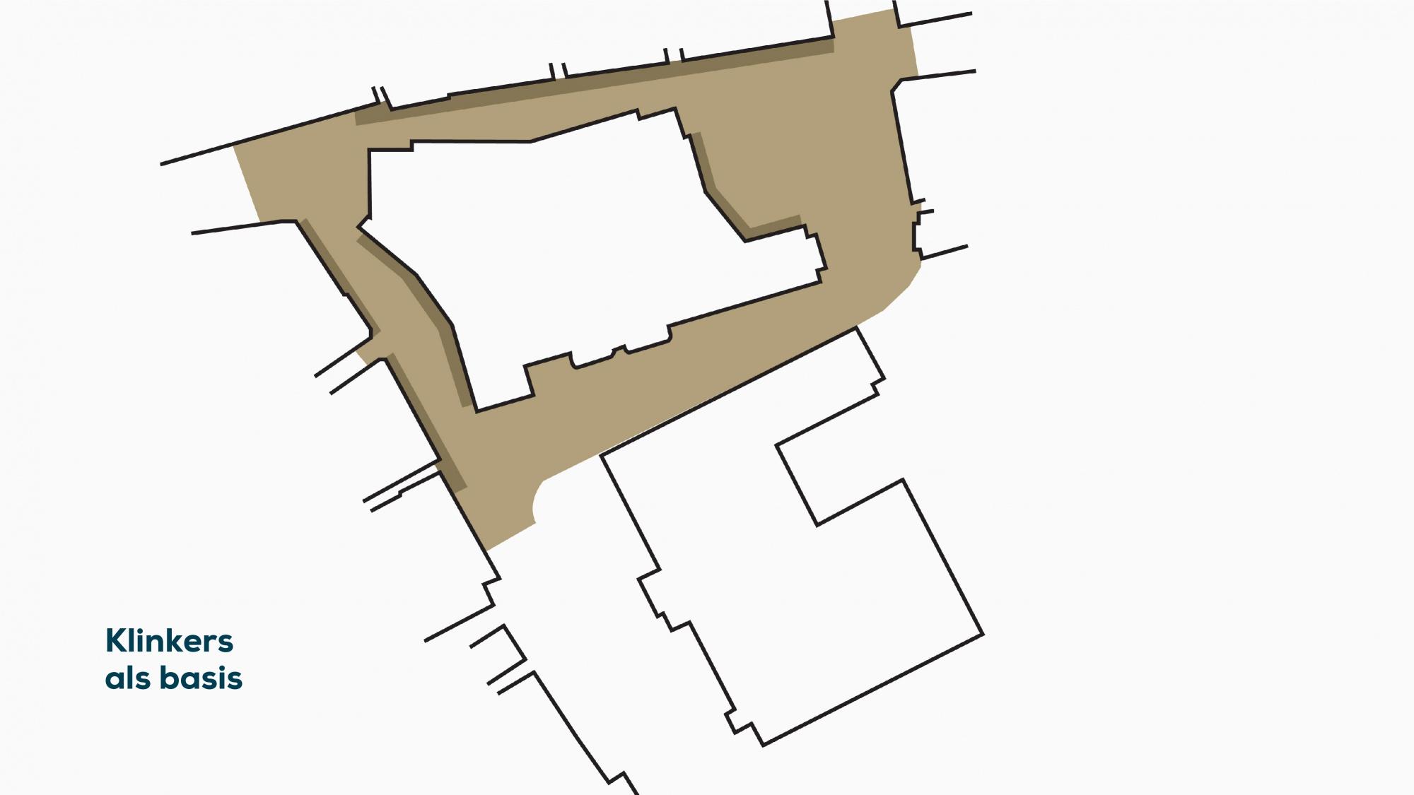 plattegrond 2 klinkers als basis