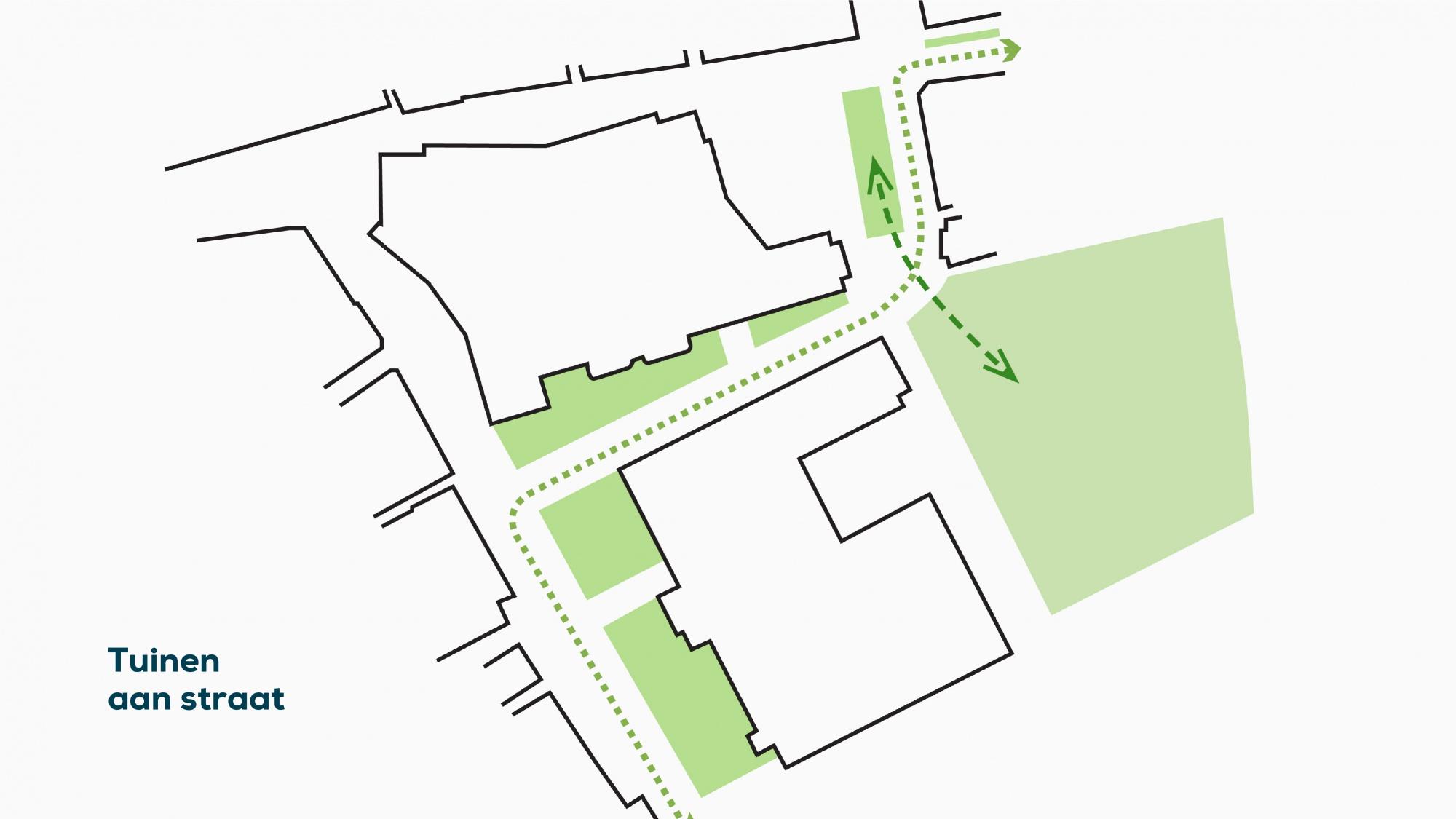 plattegrond 5 tuinen aan straat