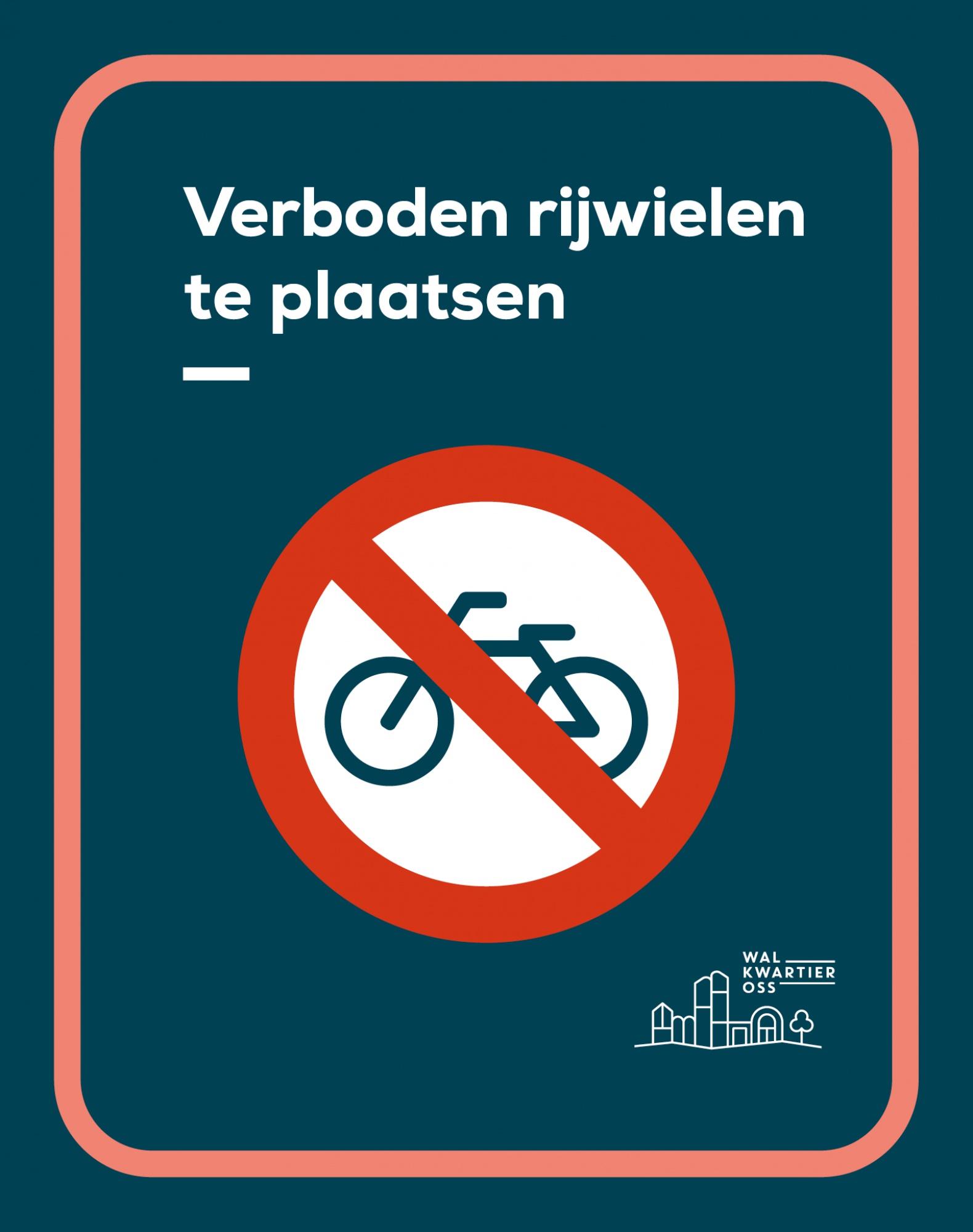 Verkeersbord verboden rijwielen te plaatsen