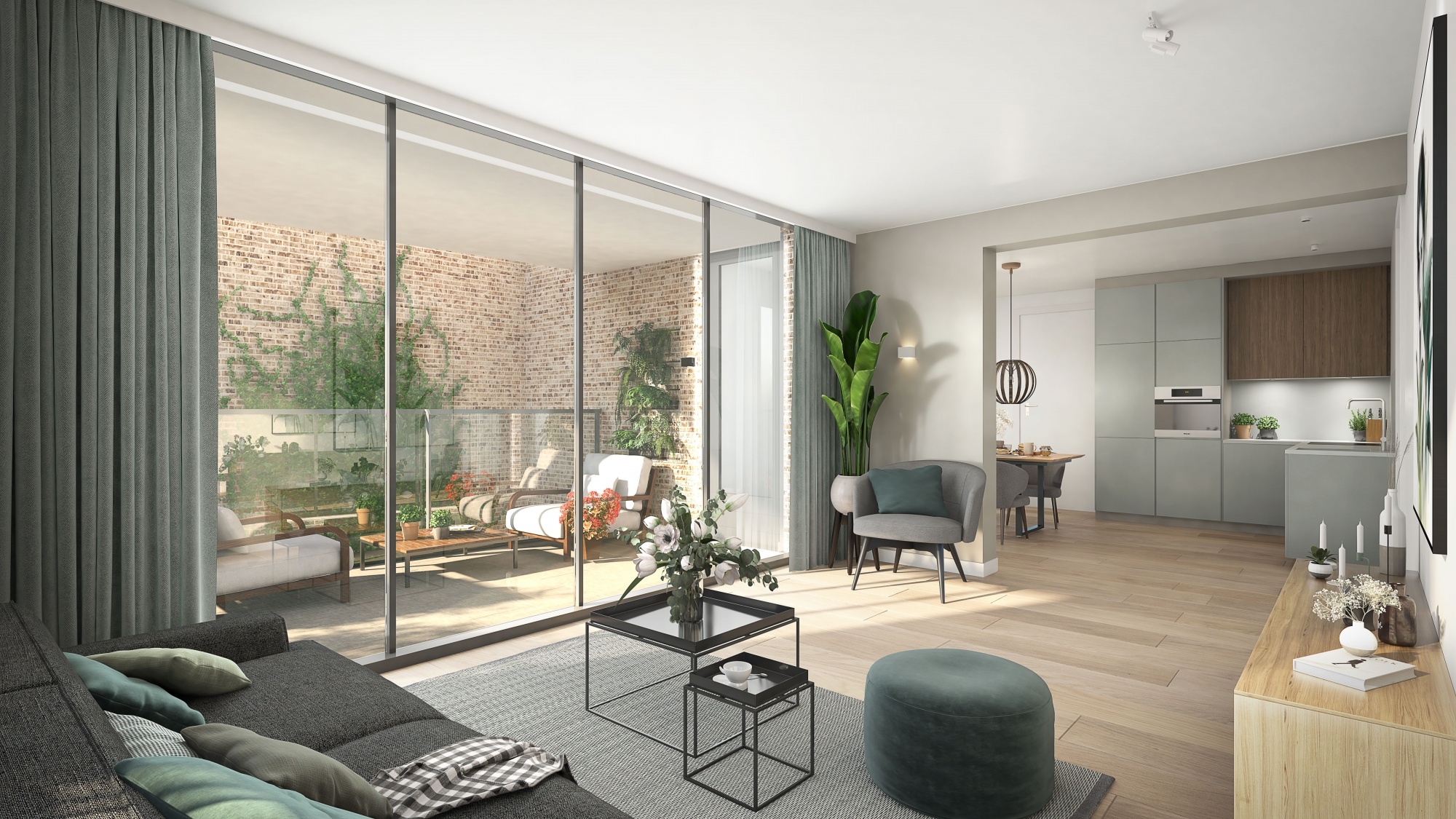 Voorbeeld van appartement type binnenkant