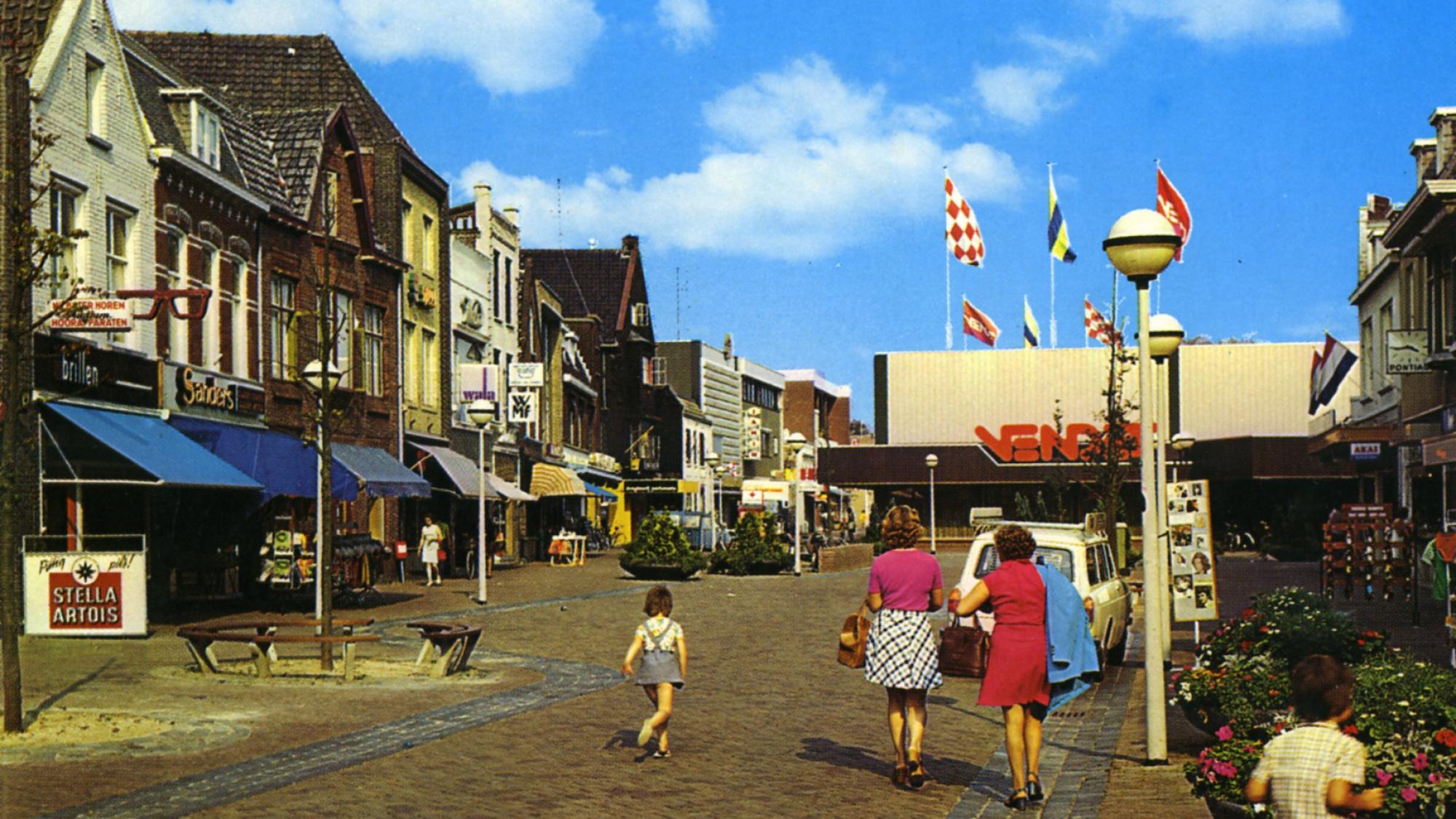Walplein, circa 1975, gezien richting oosten