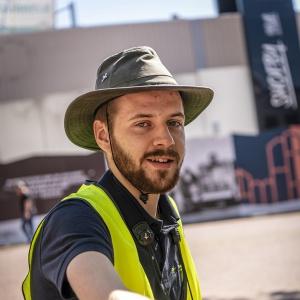 Ruben van Laar, junior ecoloog bij Bureau Buitenwaard
