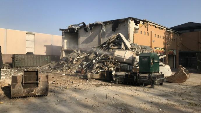 het OCP-gebouw wordt gesloopt